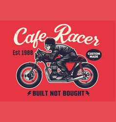cafe racer t-shirt design in vintage style vector image