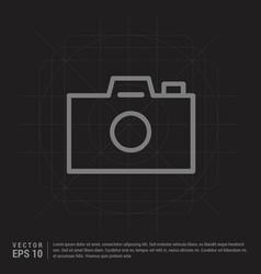 camera icon - black creative background vector image
