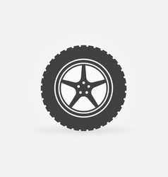 car wheel with disc concept icon vector image