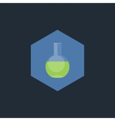 Chemical test tubes flat icon vector