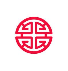 chinese prosperity symbol lu v ector vector image