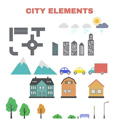 City elements for creating your map vector image