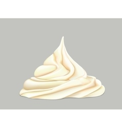 cream on a grey background vector image