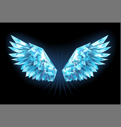 Crystal ice wings vector