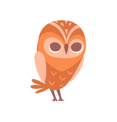Cute funny cartoon owlet bird character vector