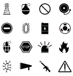 danger icon set vector image