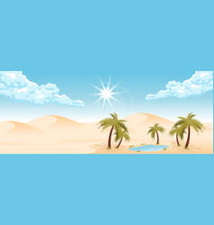 Desert landscape with oasis vector