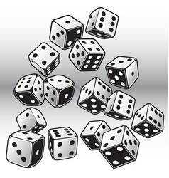 dice game cube black casio lucky set vector image