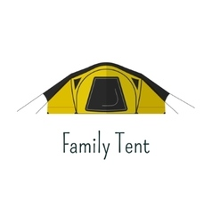 Family tent flat icon Camping tent color vector image