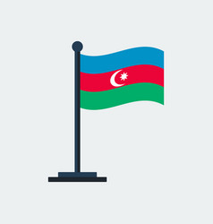 flag of azerbaijanflag stand vector image