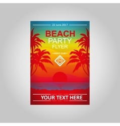 Flayer Beach Party vector