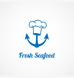 Fresh seafood logo vector