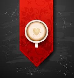 Good morning coffee break hot coffee cup on black vector