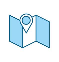gps map pointer cartoon vector image