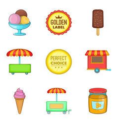gum icons set cartoon style vector image