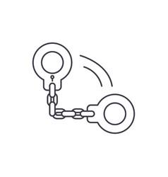 handcuffs line icon concept handcuffs vector image