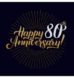 Happy Anniversary Calligraphic and Starburst vector