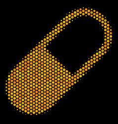 Hexagon halftone medication granule icon vector