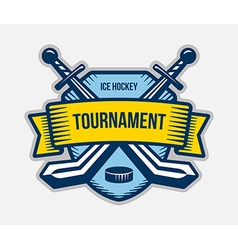 Ice hockey winter sport tournament logo vector