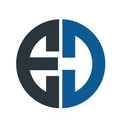 Letter ed logo design vector