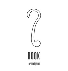 line style icon a hook clean and modern vector image