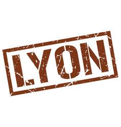 Lyon brown square stamp vector