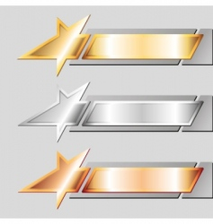 metal emblems vector image