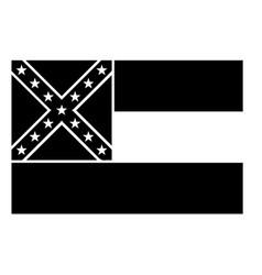 Mississippi ms state flag united states vector