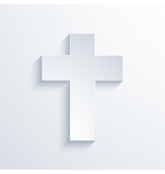 modern religious cross icon with long vector image