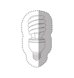 Monochrome contour sticker of spiral fluorescent vector