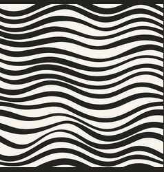 monochrome seamless pattern with wavy shapes vector image