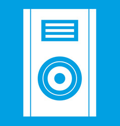 Music speaker icon white vector