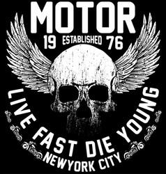 New york riders motorcycle club tee graphic design vector