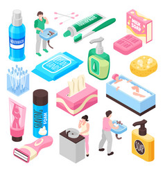 Personal family hygiene set vector