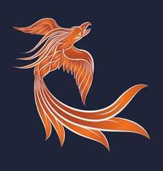 phoenix logo icon design vector image