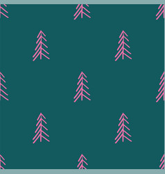 pink blue abstract simple tree seamless repeat vector image