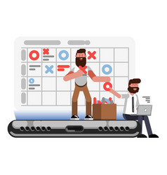 planning and organization helpers on phone vector image