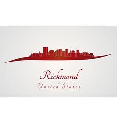 Richmond skyline in red vector image
