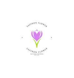 Saffron logo template vector