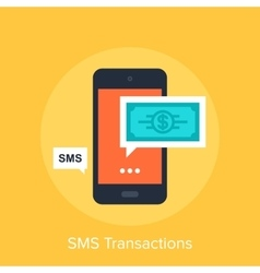 SMS Transactions vector image