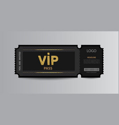 Stub vip pass ticket stub with glittering stripes vector
