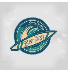 Summer surfing retro vintage logo emblem vector