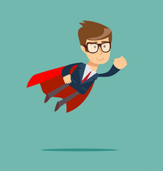 super businessman in a cloak of super man vector image
