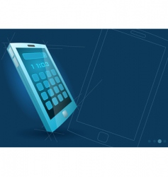 touch screen device vector image