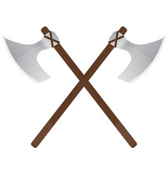 Viking axe medieval weapons vector