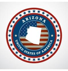 Vintage label Arizona vector