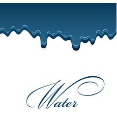 water drop aqua splash blue droplet liquid vector image