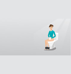 woman suffering from diarrhea or constipation vector image