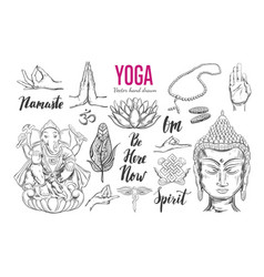 Yoga set vector