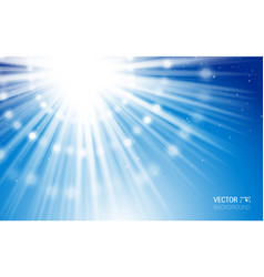 abstract magic light background blue burst vector image